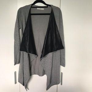 Zara Knit Size S Grey Cardigan NWOT Long Sleeve